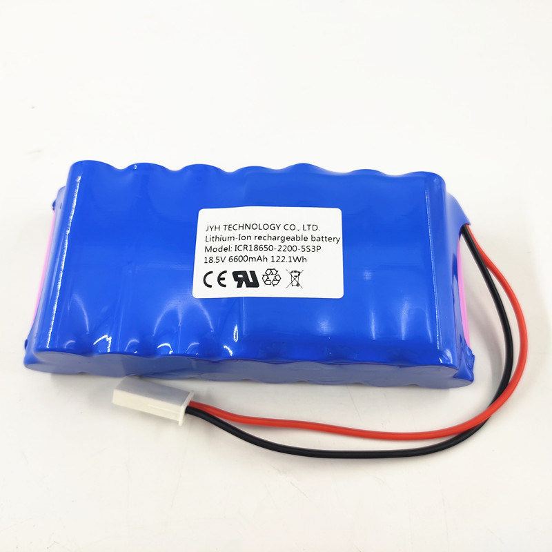 Lithium ion 18650 6.6ah 18.5V battery pack